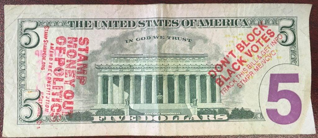 Dont Block Black Votes 5 Dollar Back