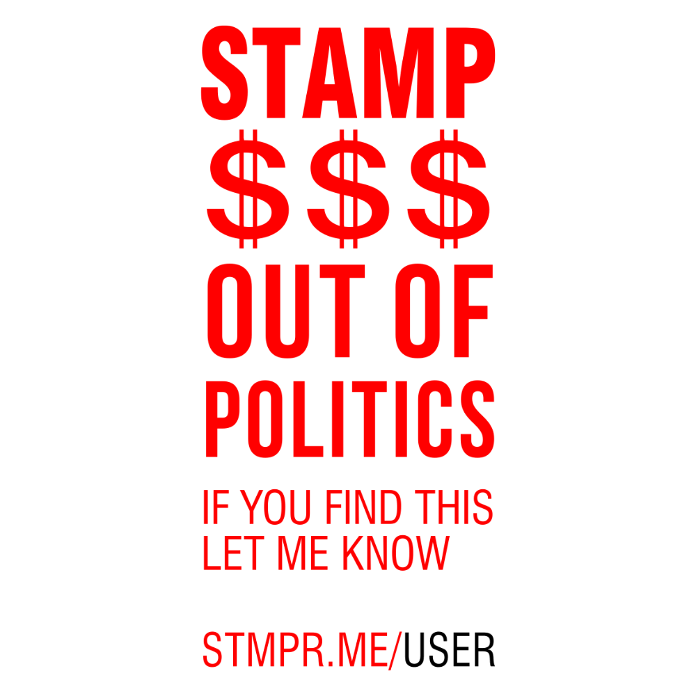 Stamp Out Of Politics