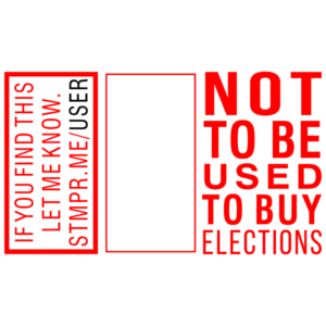 Not to Be Used to Buy Elections