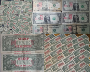 #Stamp4Independence stamped bills